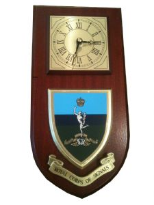 Royal Corps of Signals Wall Plaque Clock